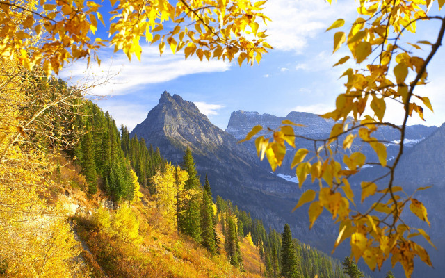 Mountain Autumn Wallpaper Samsung Galaxy Tablets Wallpapers