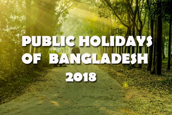 Bangladesh Public Holidays 2018