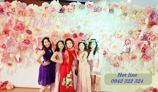 background hoa giay