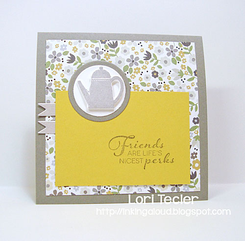 Friends Are Life's Nicest Perks card-designed by Lori Tecler/Inking Aloud-stamps and dies from Clear and Simple Stamps