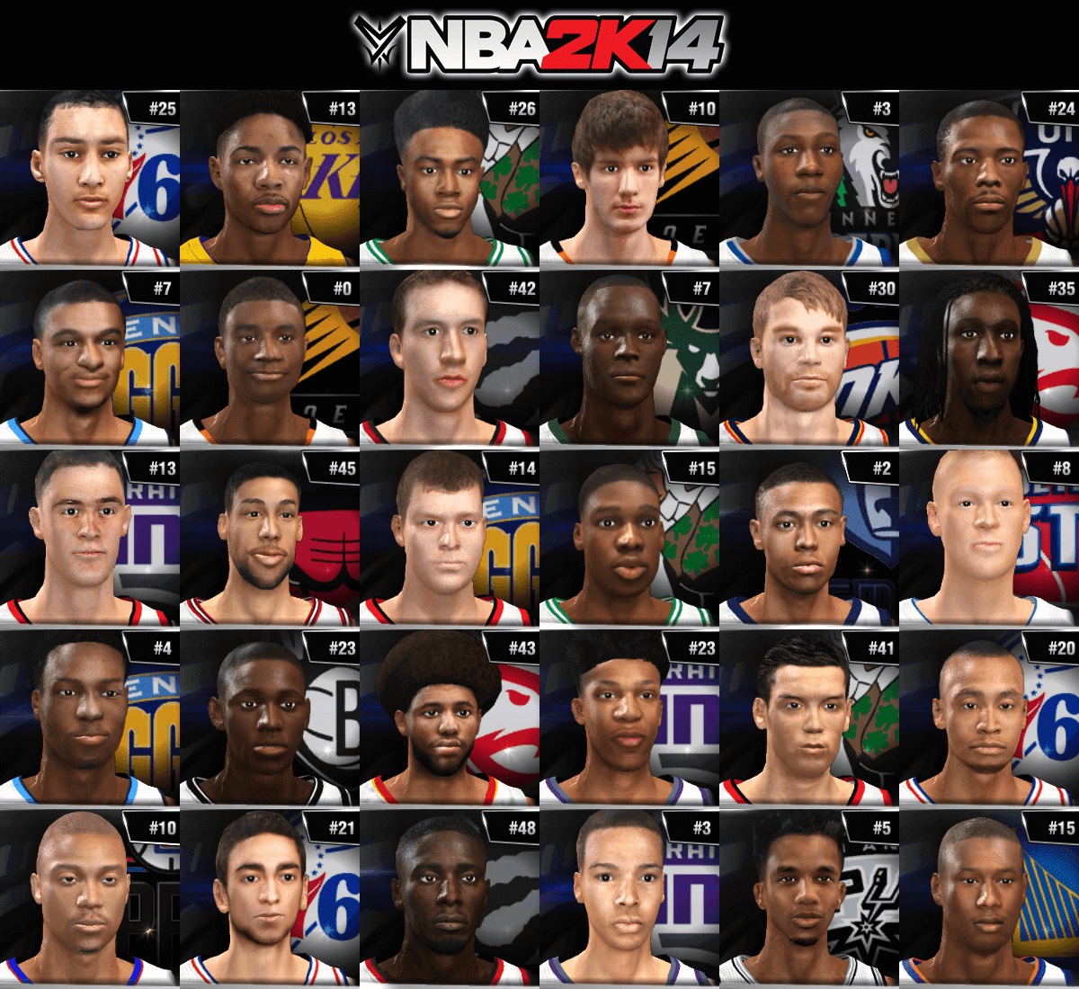 NBA 2k14 Ultimate Roster Update v7.1 : July 1st, 2016 - Rookies 2016