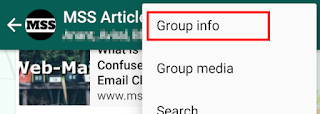 click on 'Group info' in the opened menu