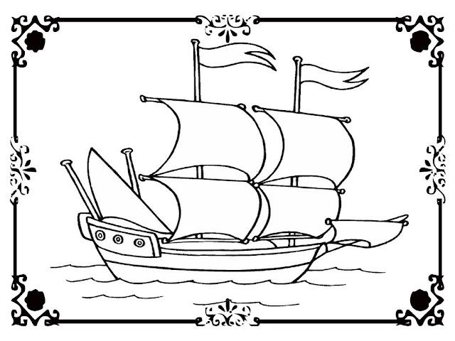 viking ships coloring pages - photo#10