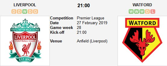 liverpool vs watford live