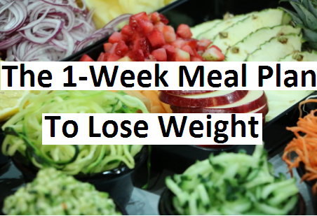 the 1week meal plan to lose weight  turnyourlifestyle