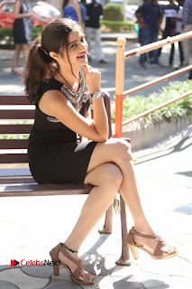 Actress Poojitha Pallavi Naidu Stills in Black Short Dress at Inkenti Nuvve Cheppu Movie Platinum Disc Function  0227.JPG