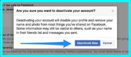 how do i deactivate facebook account