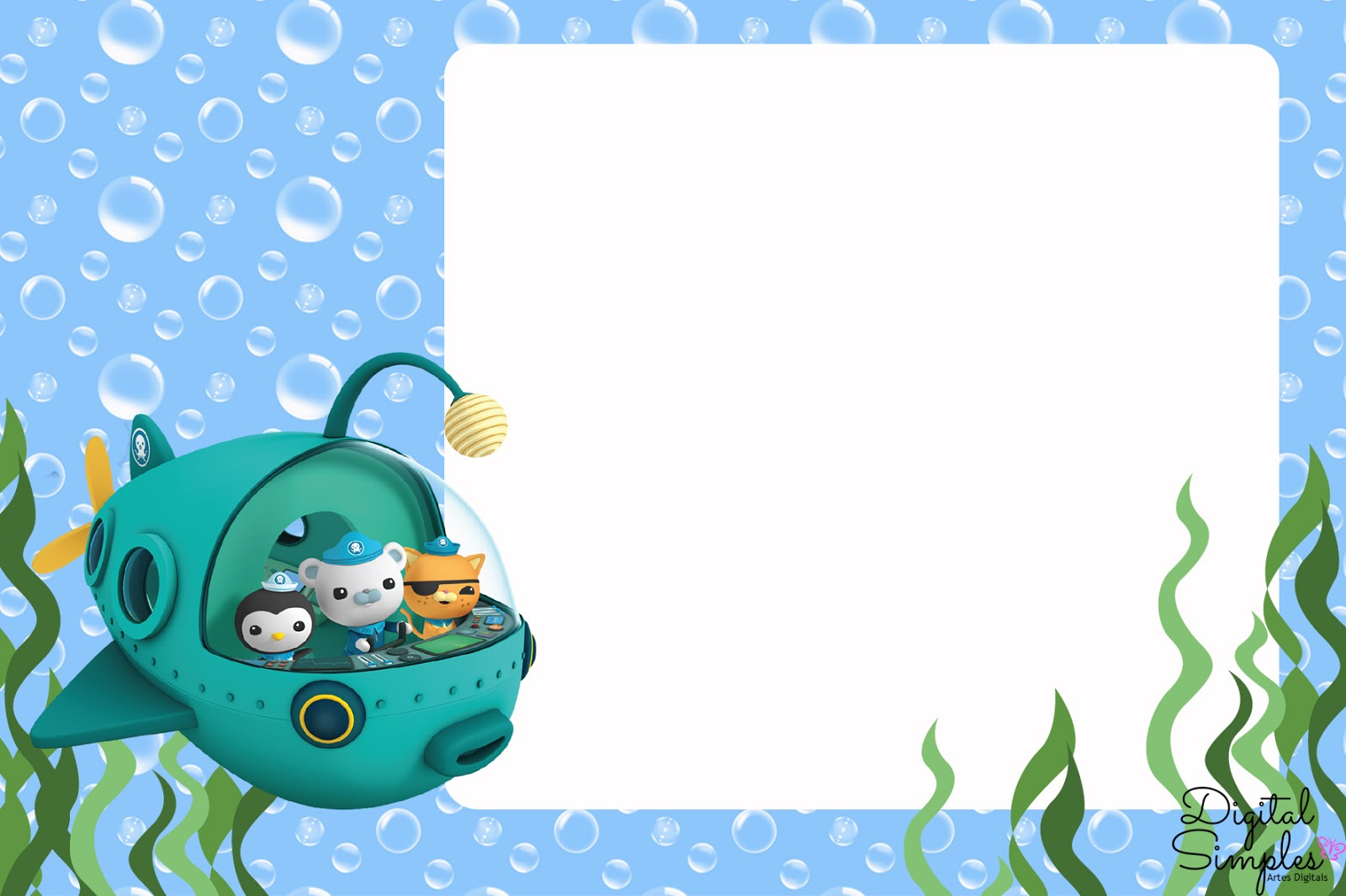 Octonauts Free Party Printable and Invitations Oh My Fiesta in