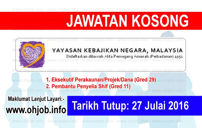 Jawatan Kerja Kosong Yayasan Kebajikan Negara (YKN) logo www.ohjob.info julai 2016