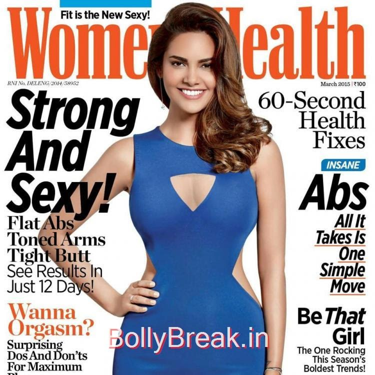 , Esha Gupta Hot Pics on Cover of Women Health India Magazine March 2015
