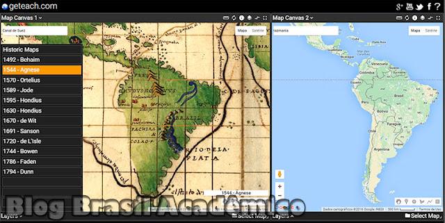 Comparando mapas históricos