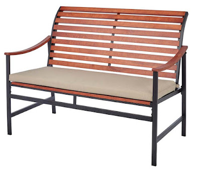 http://www.homedepot.com/p/Hampton-Bay-Plaza-Mayor-Wood-Outdoor-Bench-with-Cream-Cushion-HD17554/207189412