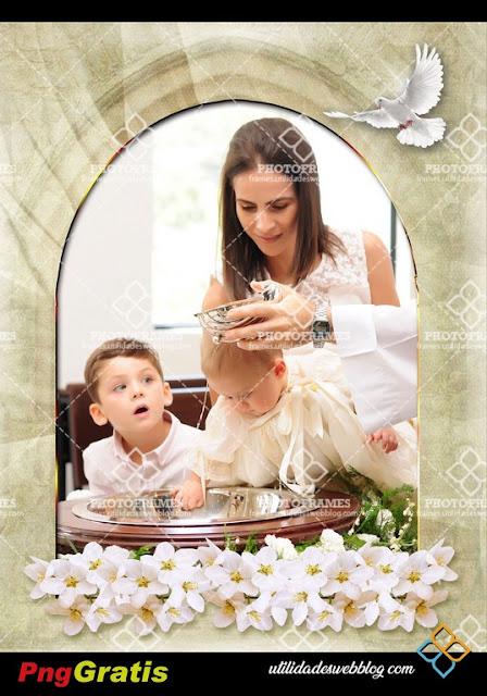 Marco para fotos de los distintos sacramentos y eventos religiosos