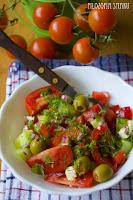 (weganska salatka grecka