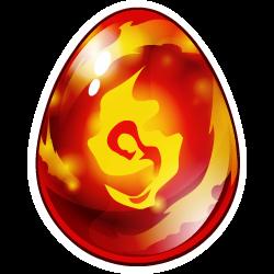Das Erscheinen des Ei Flammen-Drache