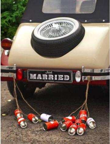 Dekorationen und Geschenke Das Hochzeitsauto mit