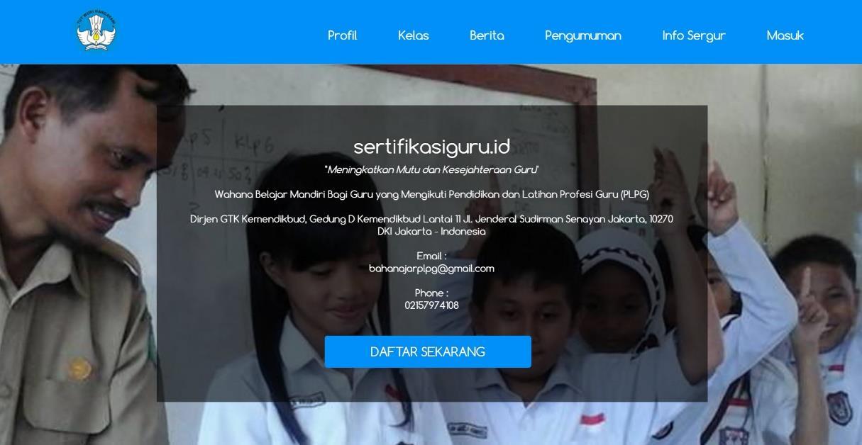 Cara Daftar Menjadi Peserta PLPG Sertifikasi Guru di Web SertifikasiGuru.id