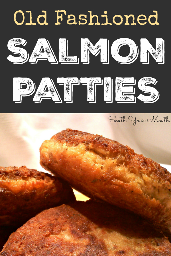 Classic Salmon Patties (or Salmon Croquettes) pan fried until golden brown and delicious!