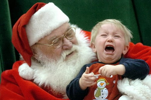 Crying Child In Santa Claus S Lap Disturbed Parents Think