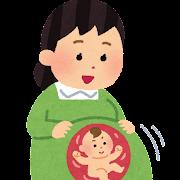 胎動のイラスト