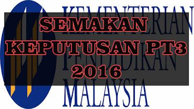 semakan keputusan pt3 2016 online