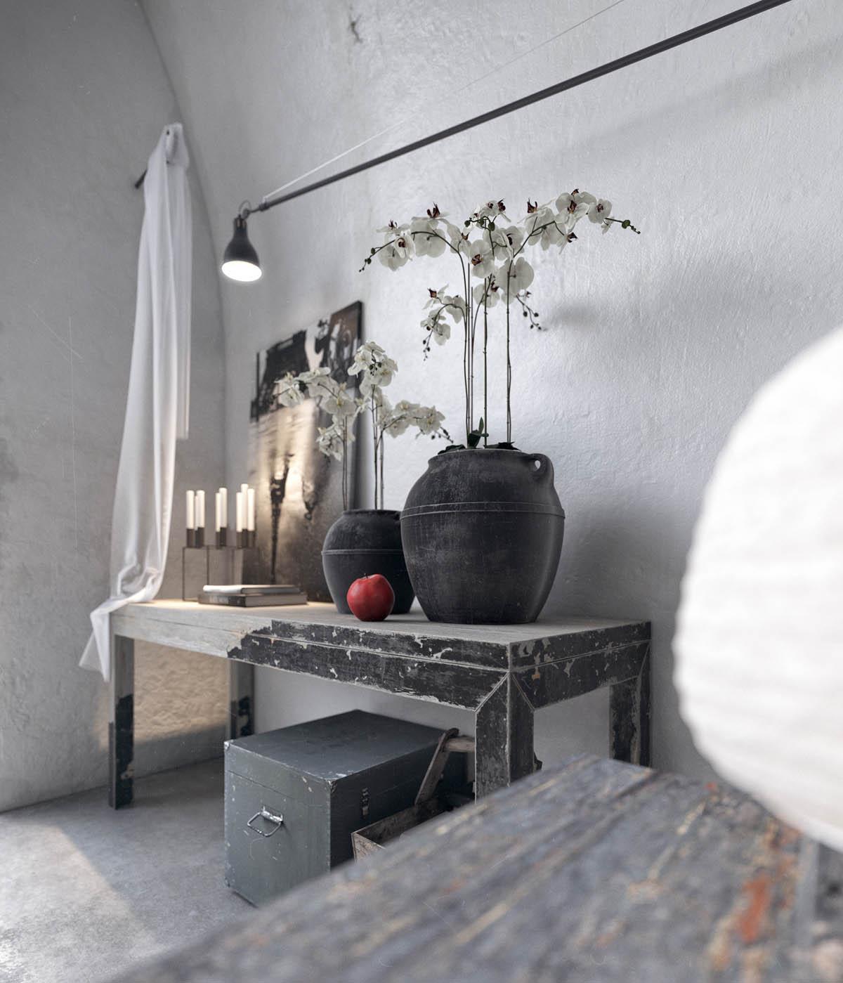 Diseño interior rústico moderno industrial
