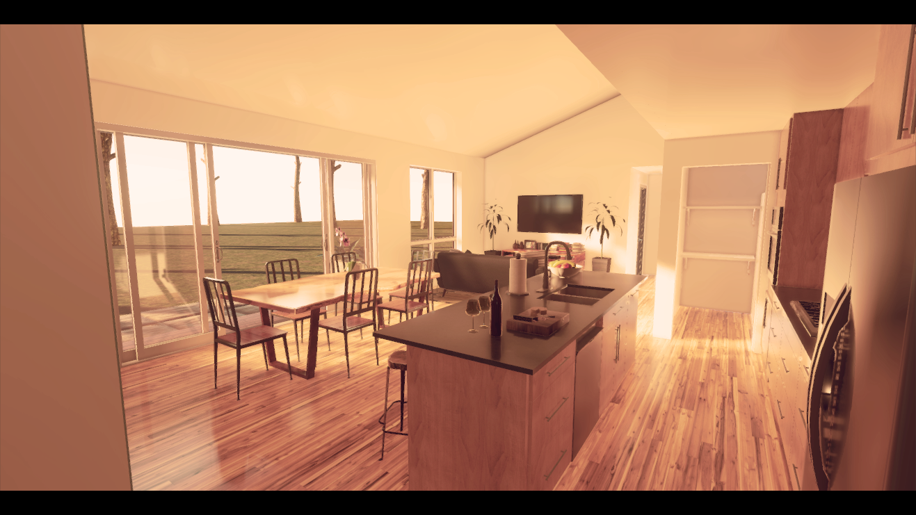 ArchViz: Unity: Working with both Real-time/baked GI on transparent