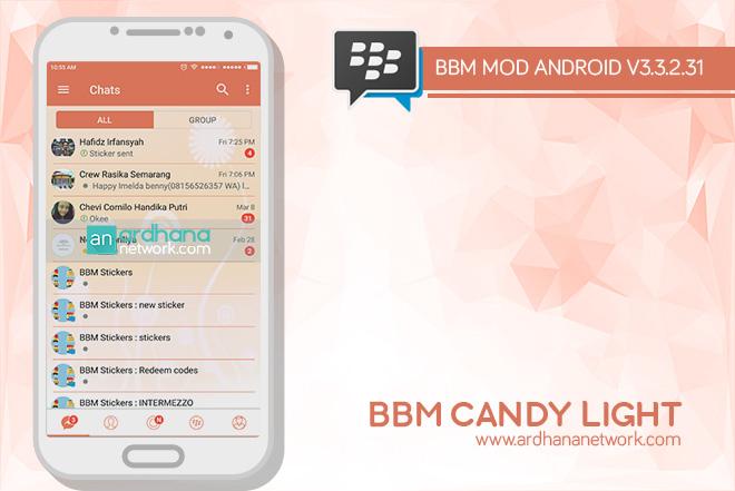 BBM Candy Light V3.3.2.31 - BBM MOD Android V3.3.2.31