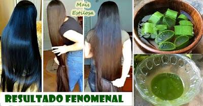 receita com óleo de rícino e babosa para o crescimento do cabelo
