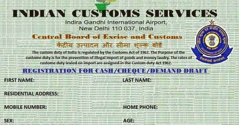 NEW DELHI CUSTOMS TAX REVENUE | Email Frauds