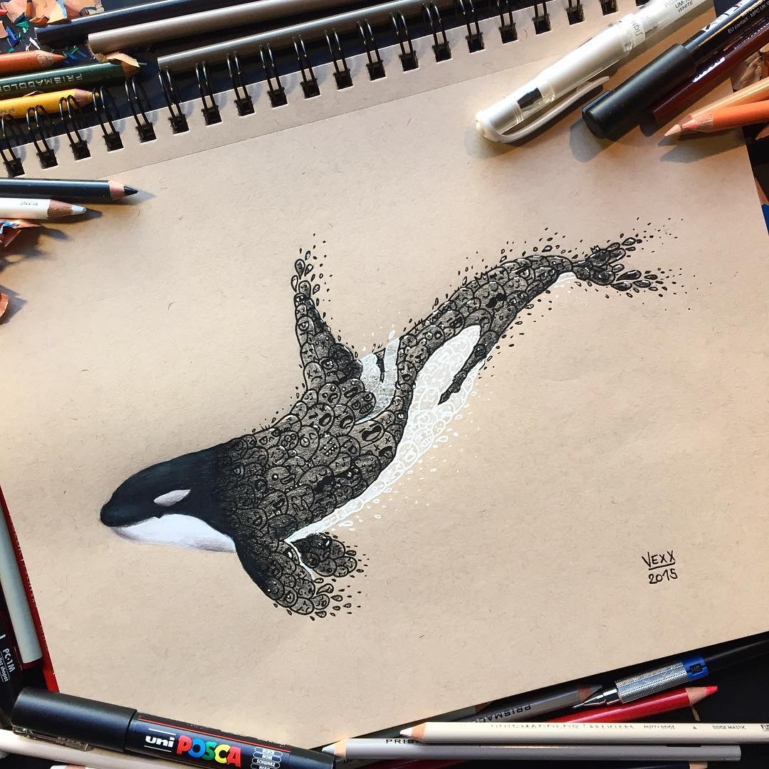 03-Killer-Whale-Orca-Vince-Okerman-vexx-Doodle-Drawings-that-Brightenup-your-Day-www-designstack-co