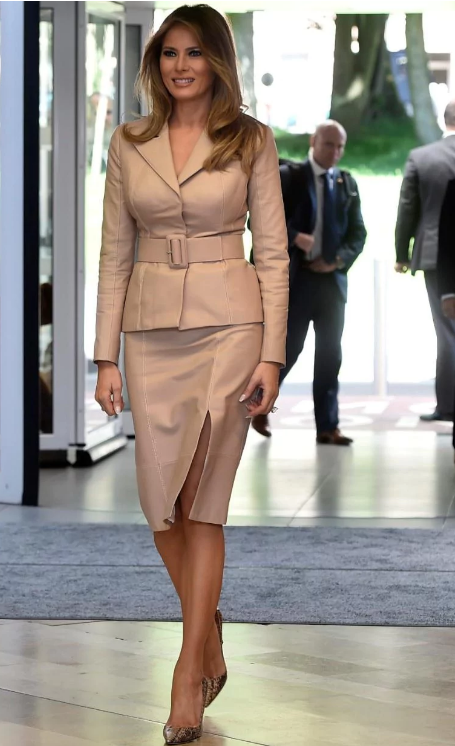 Outfit Melania Trump Wore On Her Debut Foreign Tour