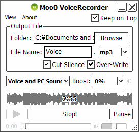 Moo0 Voice Recorder (Software Perekam Suara Gratis)