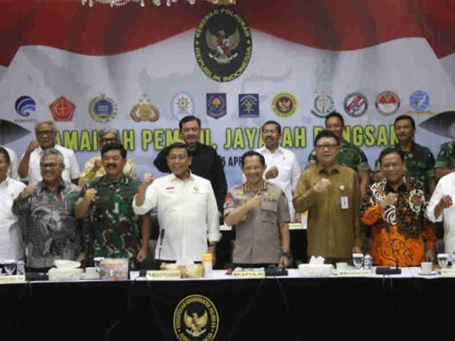 Wiranto Minta Seluruh Aparat Jamin Keamanan Saat Pemilu, 17 April 2019