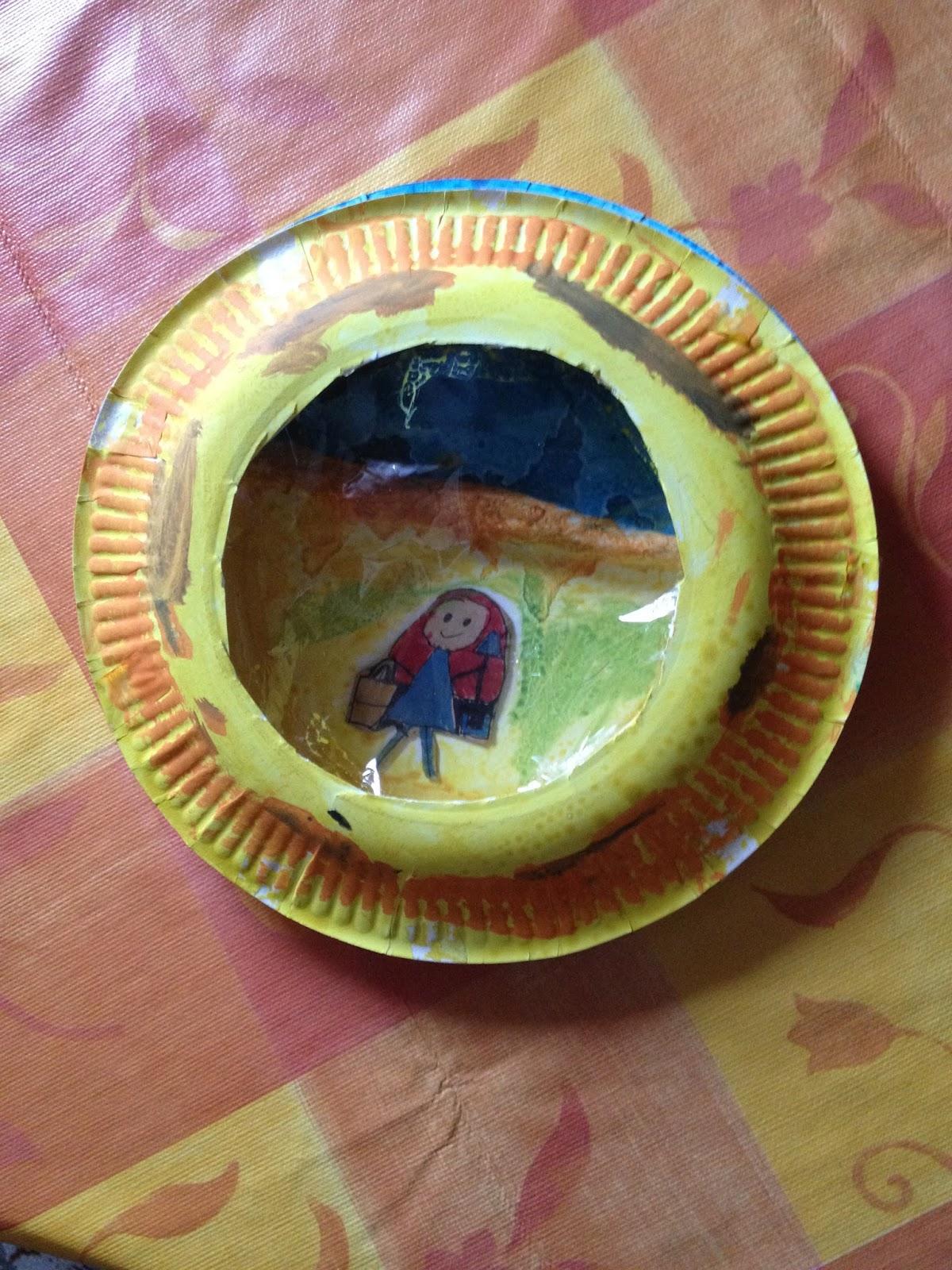 Zwiebelchens Plauderecke: Bilderrahmen aus Papptellern basteln
