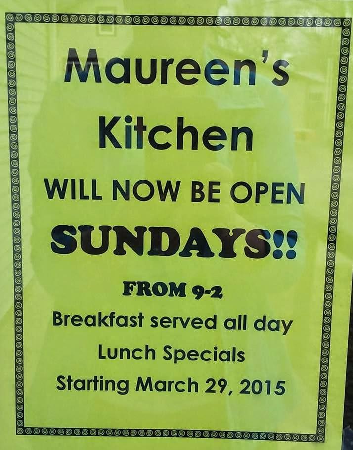 Maureen S Kitchen Lunch Menu