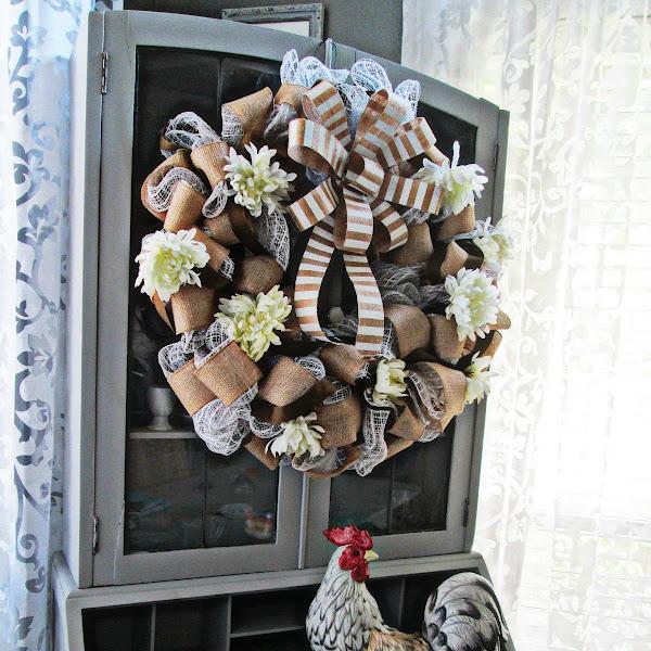DIY Mid-Summer Wreath Makeover