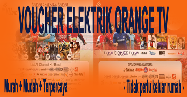 Voucher TV Prabayar Orange TV Murah