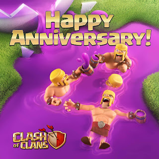 1 Gems Boost - Ulang Tahun Clash of Clans - Agustus 2016