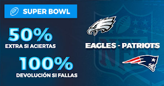 Paston Promoción: Super Bowl Patriots vs Eagles 4 febrero