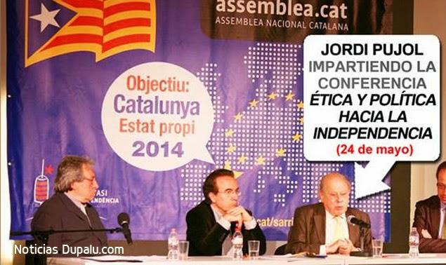 Assemblea Nacional Catalana y Jordi Pujol impartiendo ética política