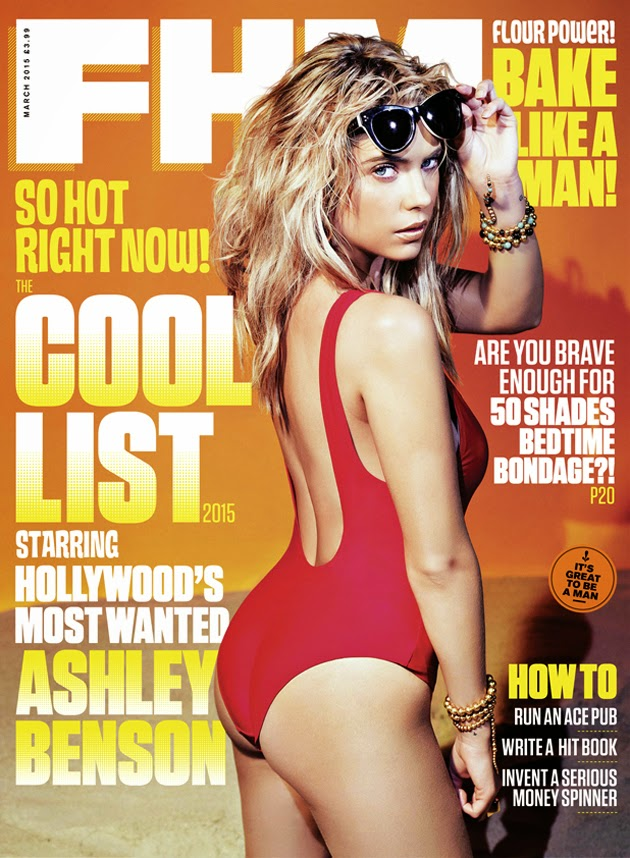 Ashley Benson shows off curves for the FHM UK March 2015 edition