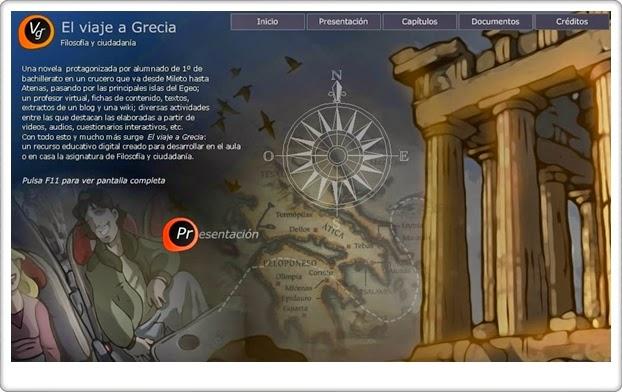 """""""El Viaje a Grecia"""" (Filosofía de 1º de Bachillerato)"""