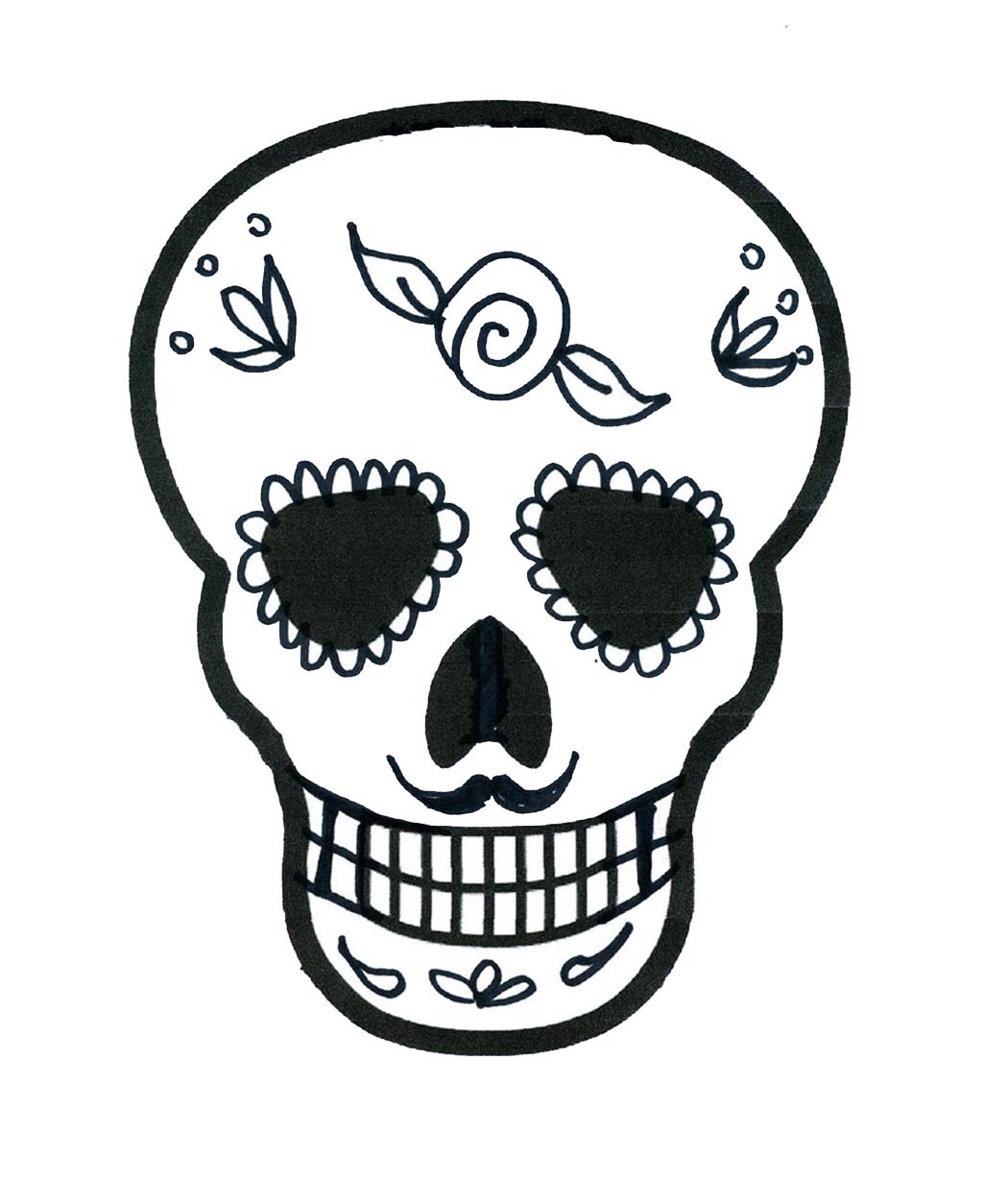 The Impatient Crafter : How To Make Sugar Skull Shrink