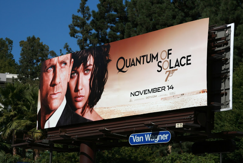 James Bond Quantum of Solace billboard