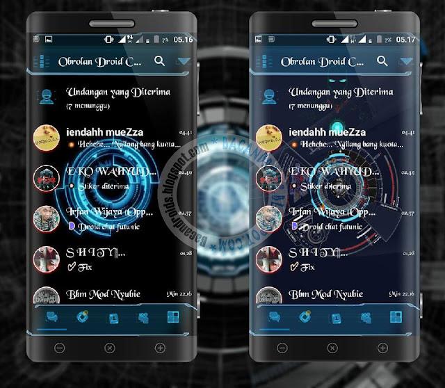 BBM Mod Droid Chat Futuristic Theme v13.2.13 BAse Versi 3.1.013 Apk Clone Unclone Terbaru