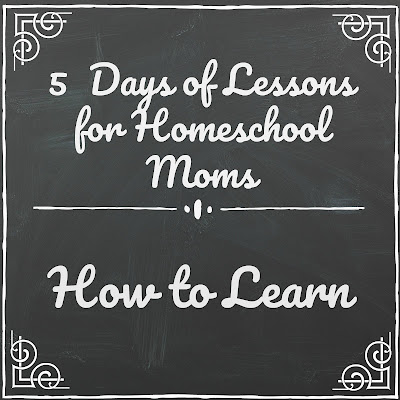 Lessons About How to Learn (5 Days of Lessons for Homeschool Moms) on Homeschool Coffee Break @ kympossibleblog.blogspot.com - part of the 2018 5 Days of Homeschool Blog Hop hosted by the Homeschool Review Crew @ homeschoolreviewcrew.com