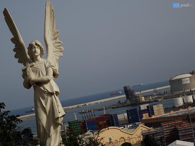 Montjuïc, cementerio, puerto, Barcelona