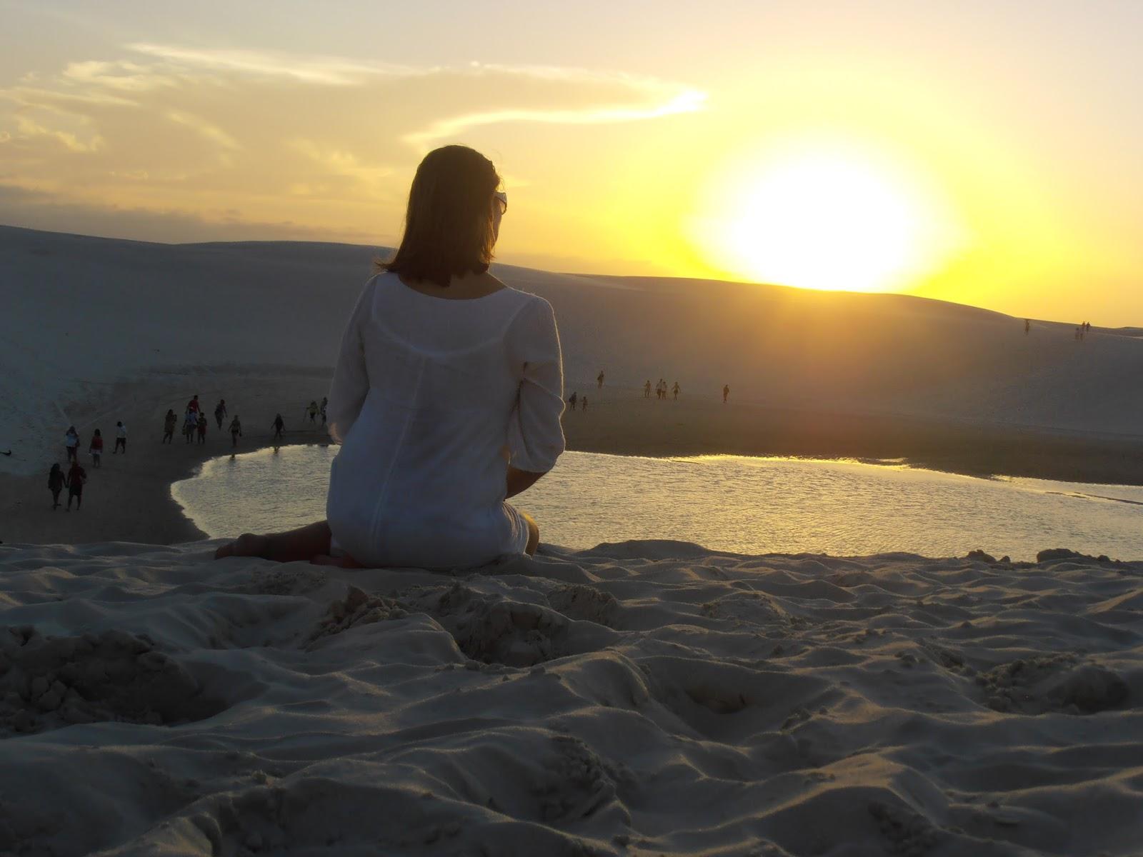 Por do sol no Parque dos Lençóis Maranhenses