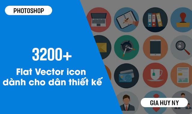 Chia sẻ 3200+ Flat Vector Icons Miễn Phí